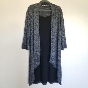 🌷HAANI Women's 3/4 Sleeve Cardigan Dress
